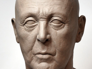 """Paul McCartney"" Life size Bust Modeling Complete"