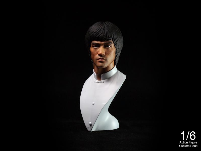 """"""" Bruce Lee"""" 1/6 Bust Kit SET"""