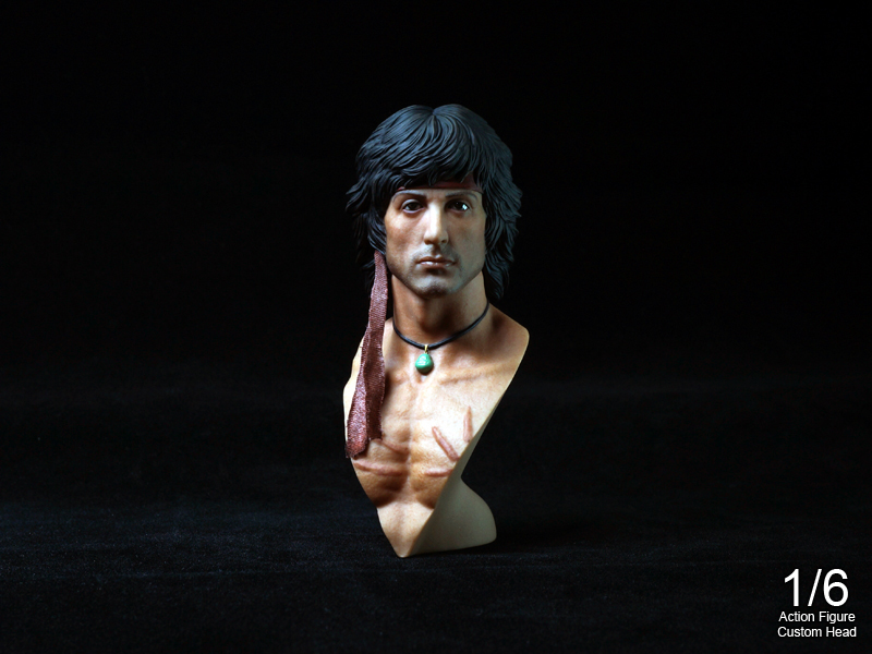 """ Rambo2 "" 1/6 Bust Kit Set"