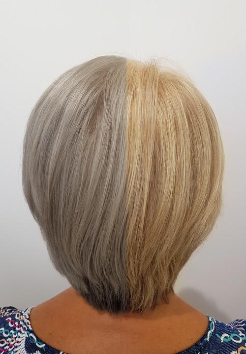 Avant/après blond
