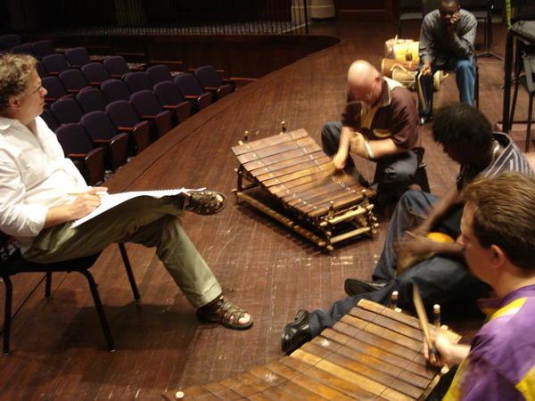 Bernard Woma Rehearsal