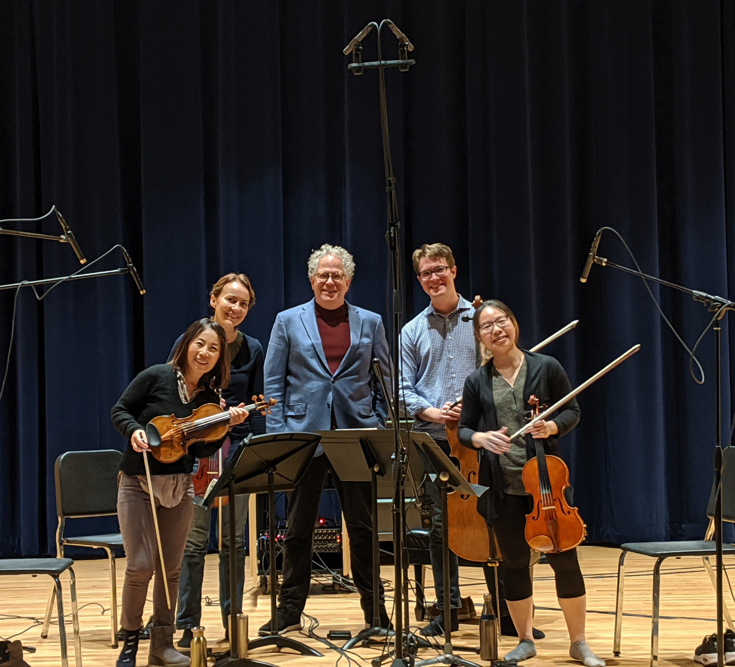 Dakota String Quartet after recording Fa