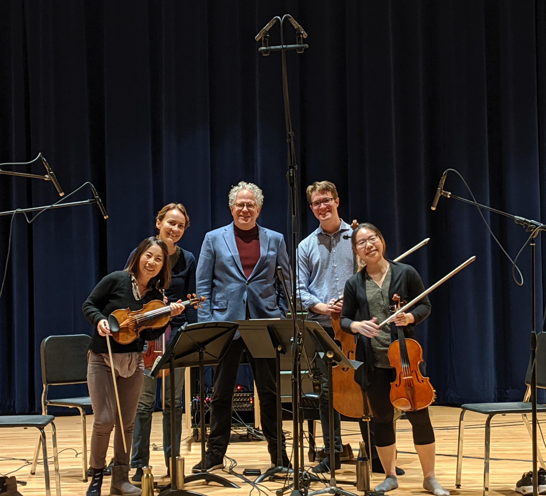 Dakota String Quartet after recording Fa