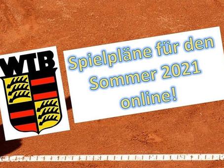 Spielpläne Sommer 2021 veröffentlicht