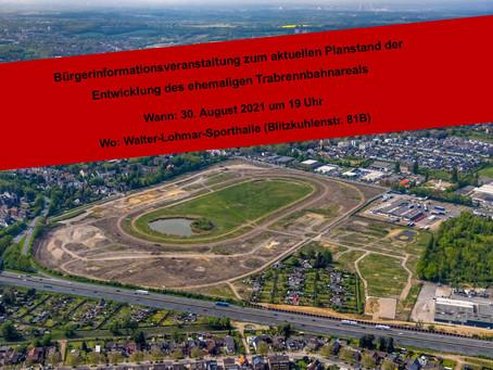 Informationsveranstaltung zum aktuellen Planstand der Entwicklung des ehemaligen Trabrennbahnareals