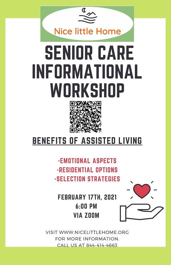 1st Senior Care Informational Workshop (