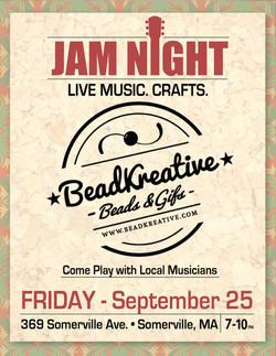 BeadKreative Flyer - Jam Night