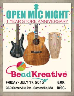 BeadKreative Flyer - Open Mic