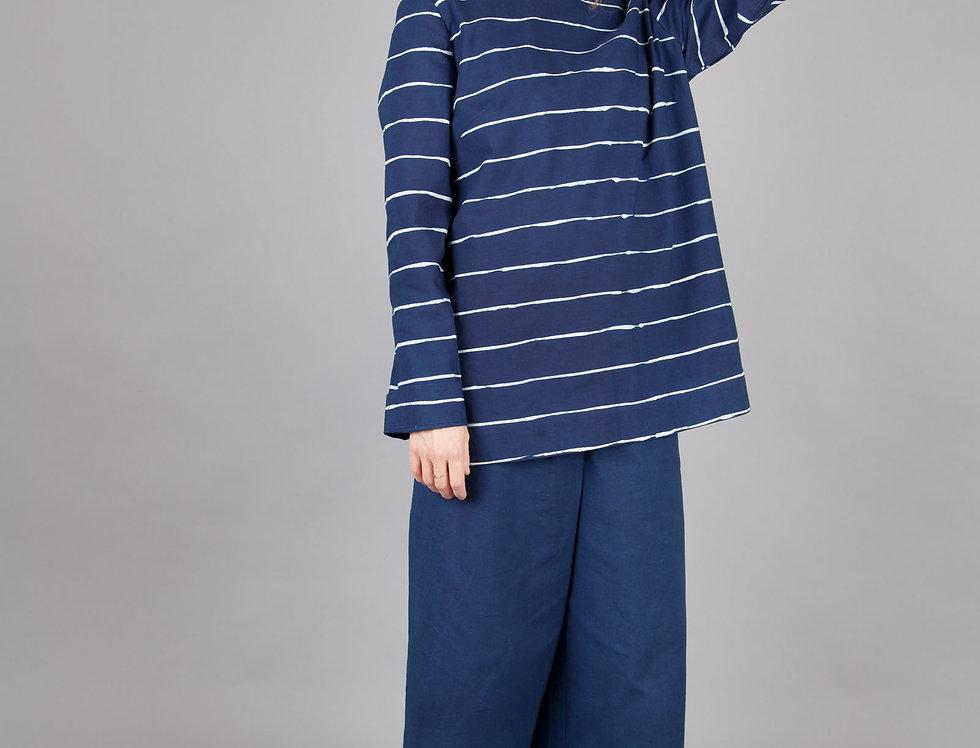 Indigo Striped Blouse