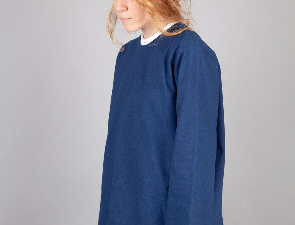 Indigo Dyed Cotton Blouse