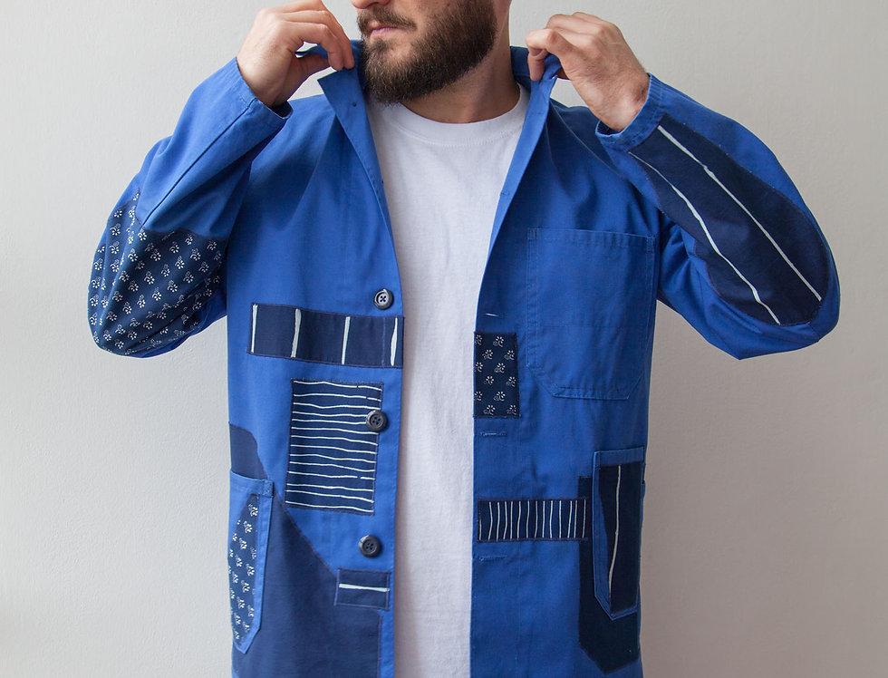 Workwear Patchwork Jacket