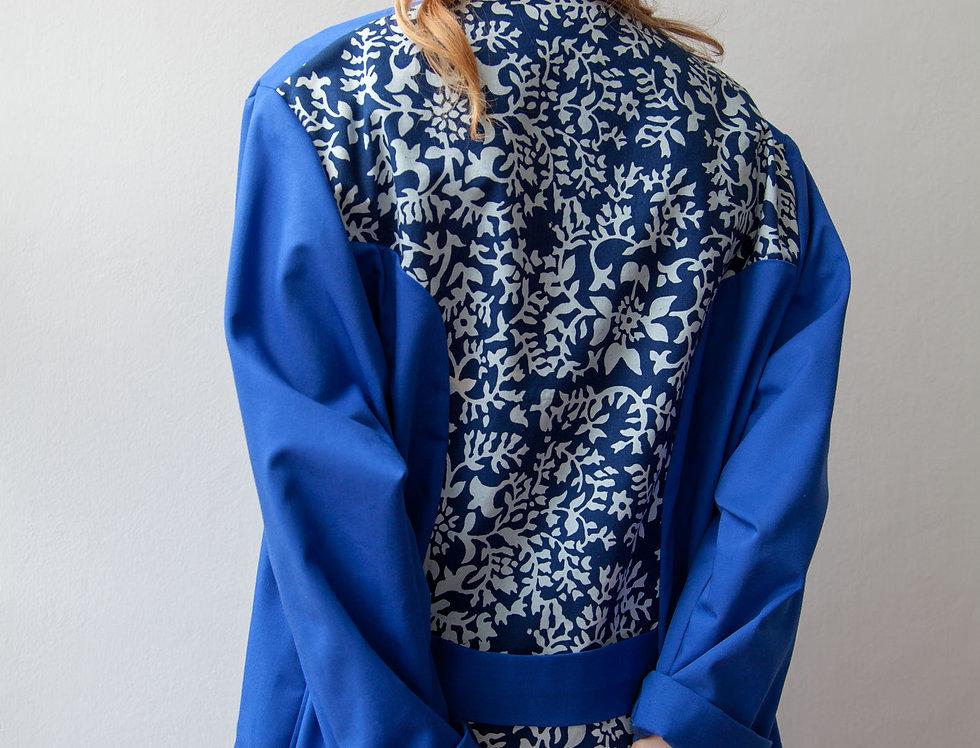 Workwear Trench Coat Flower Print