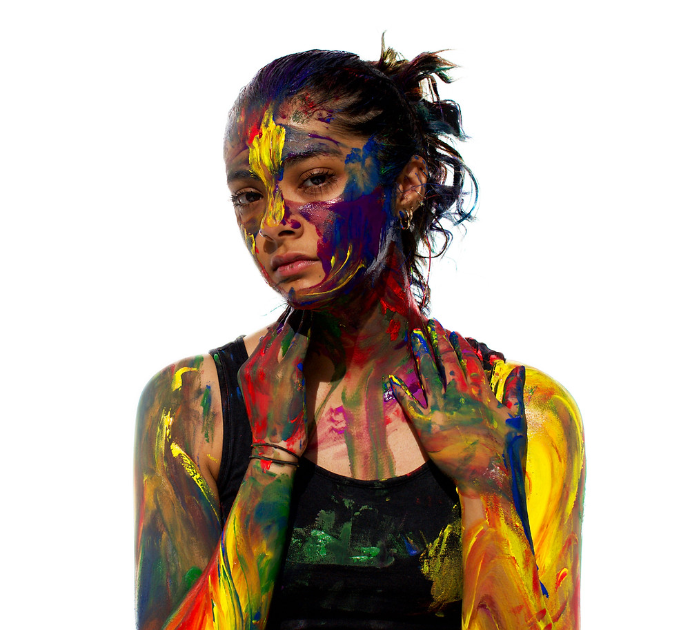 In this shoot I explored the relationship between my mind and body by using acrylic paint.