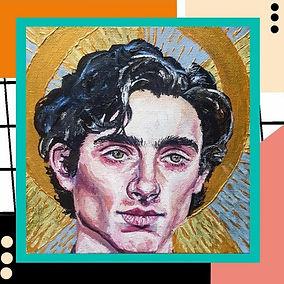 Idol: Timothee Chalamet acrylic portrait