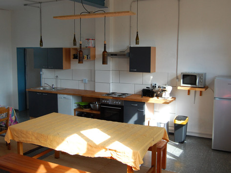 Küche und Gemeinschaftsraum