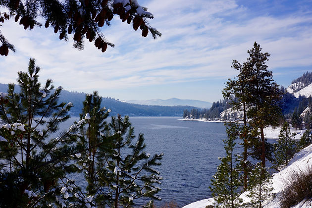 Higgens Point, on Lake Coeur d'Alene Idaho