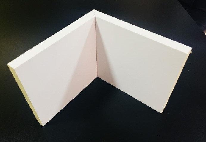 Rodapé 15cm Reto Liso HC 44 Branco I Preço R$ 58,90 por Barra com 2,40ml