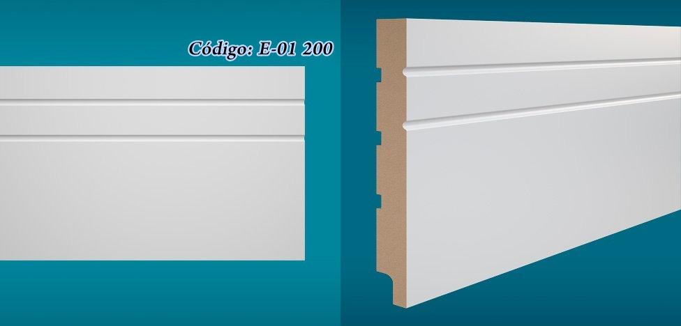 Rodapé Essencial 20cm Reto Com e Sem Friso Branco I Preço R$ 82,90 por Barra
