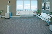 Carpete Equinox colocado em industria
