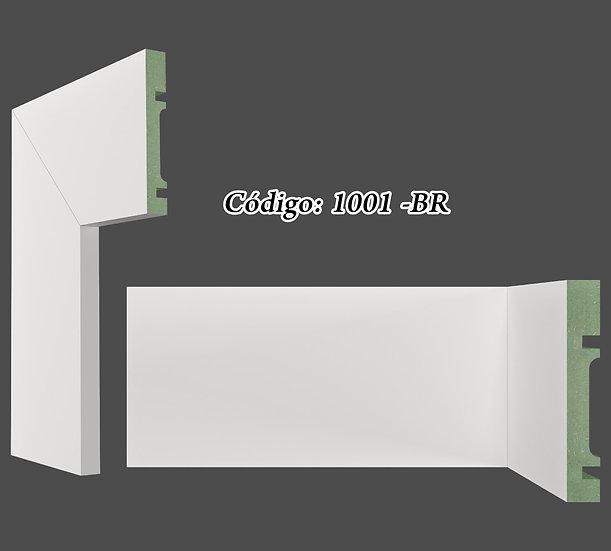 Rodapé ou Guarnição 10cm Reto Liso Branco I Preço R$ 38,00 por Barra com 2,40ml