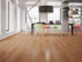 piso laminado em comercio