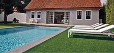 Grama Comfort Grass na piscina