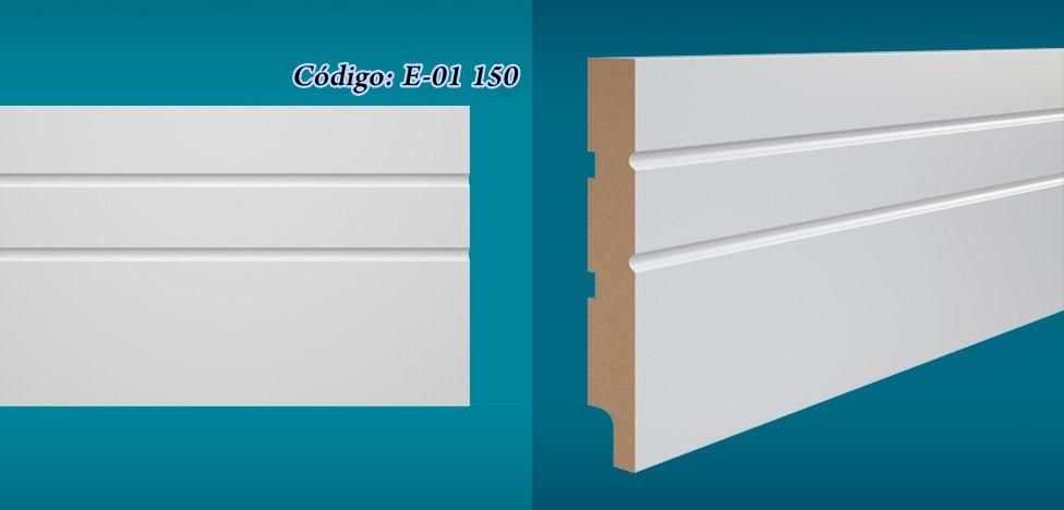 Rodapé Essencial 15cm Reto Com e Sem Friso Branco I Preço R$ 52,90 por Barra