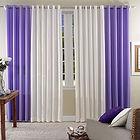 cortina bege e lilas