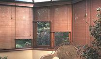 persianas rolo de bambu