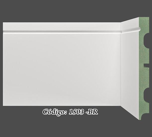 Rodapé 15cm Reto Com 1 Friso Branco I Preço R$ 58,00 por Barra
