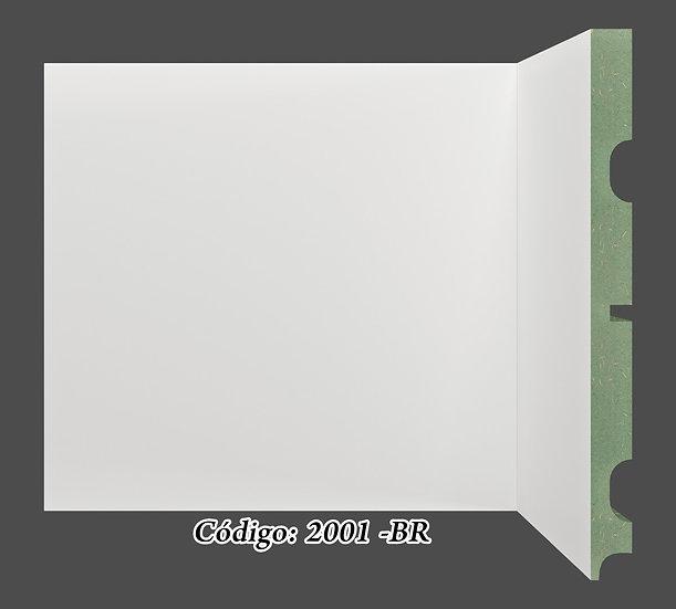 Rodapé  20cm Reto Liso Branco I Preço R$ 74,00 por Barra com 2,40ml