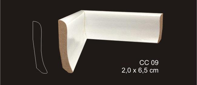 Rodapé 6,5cm CC 09 Branco I Preço R$ 25,00 por Barra com 2,40ml