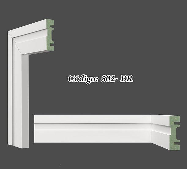 Rodapé ou Guarnição 5cm Reto Liso Branco I Preço R$ 20,00 por Barra com 2,40ml