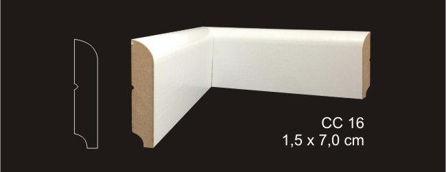 Rodapé 7cm CC 16 Branco I Preço R$ 28,00 por Barra com 2,40ml