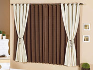 cortina em tecido e amarrado