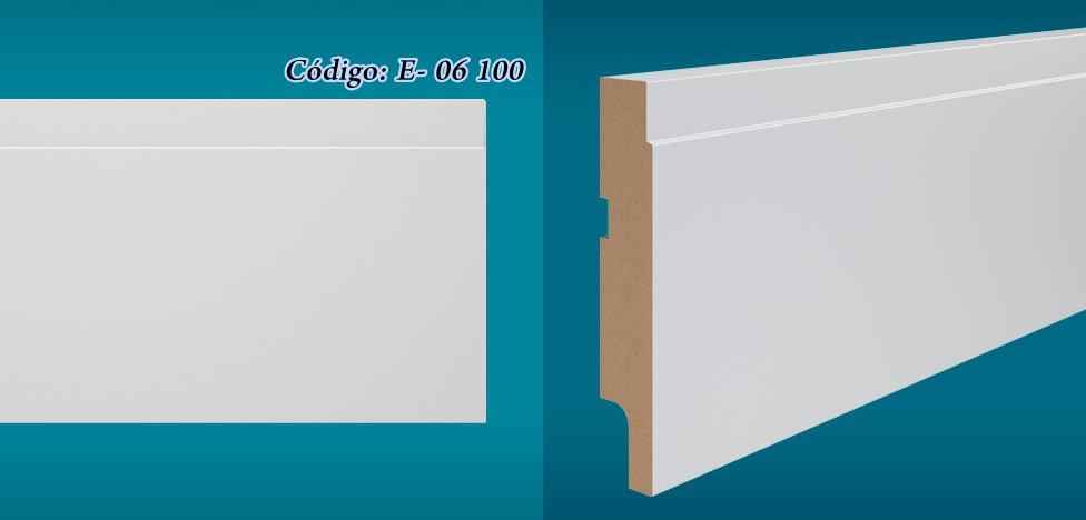 Rodapé Essencial 10cm Reto Com e Sem Friso Branco I Preço R$ 36,90 por Barra