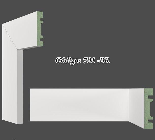 Rodapé ou Guarnição 7cm Reto Liso Branco I Preço R$ 30,00 por Barra com 2,40ml