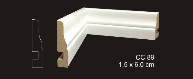 Rodapé 6cm CC 89 Branco I Preço R$ 25,00 por Barra com 2,40ml