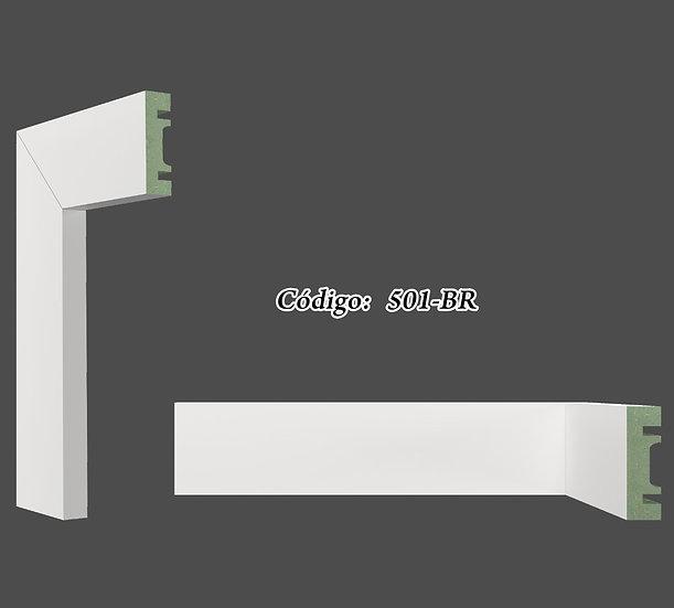 Rodapé ou Guarnição 5cm Reto Liso Branco I Preço R$ 20,00 por Barra