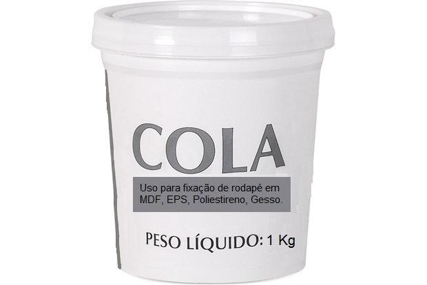 Cola Para Rodapé com 1Kg Balde I Preço R$ 28,00 por Unidade
