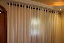 cortina no varão sob medida