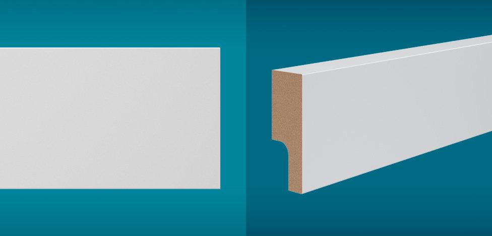 Rodapé Essencial 5cm Reto Branco I Preço R$ 16,90 por Barra
