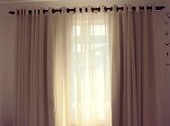 cortina em voil mais argola