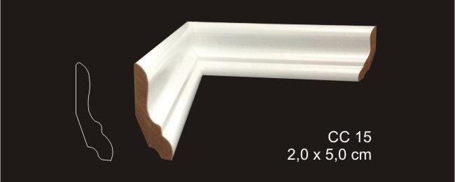Rodapé 5cm CC 15 Branco I Preço R$ 22,00 por Barra com 2,40ml