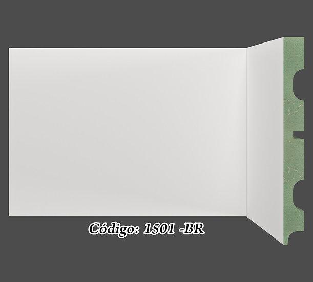 Rodapé  15cm Reto Liso Branco I Preço R$ 58,00 por Barra com 2,40ml