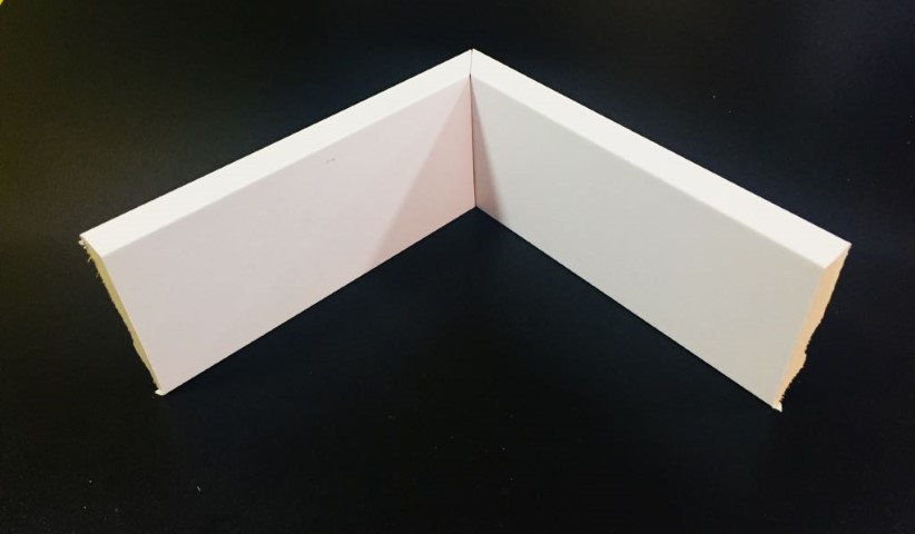 Rodapé 7cm Reto Liso HC 54 Branco I Preço R$ 21,00 por Barra com 2,40ml