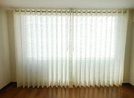 cortina em voil no centro