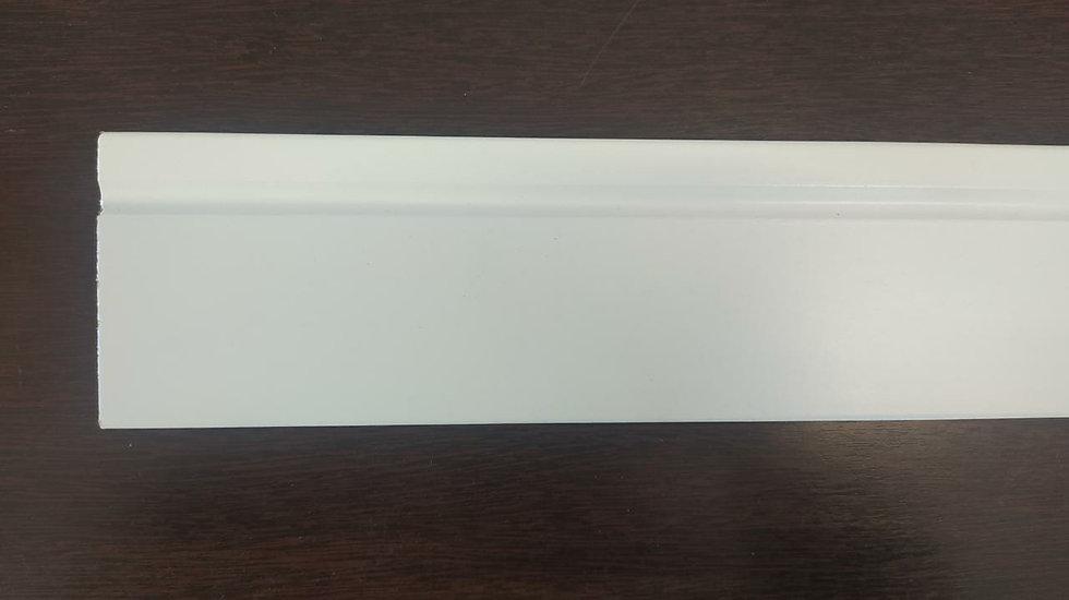 Rodapé 7cm Reto Com 1 Friso na Cor Branco I Preço R$ 34,00 por Barra
