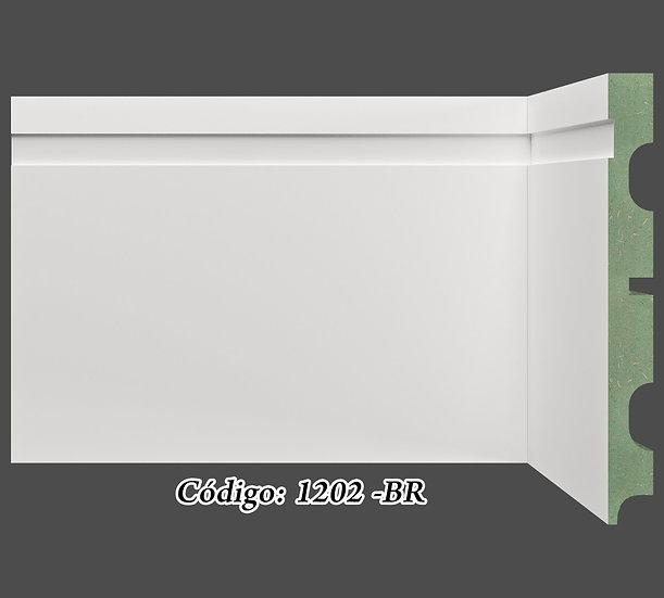Rodapé 12cm Reto Com 1 Friso Branco I Preço R$ 46,00 por Barra com 2,40ml