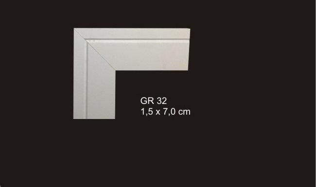 Guarnições 7cm Reto Com 1 Friso GR 32 Branco I Preço R$ 106,00 Kit